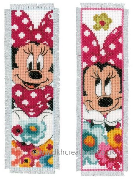Disney Minnie Mouse Dreaming Bookmarks Cross Stitch Kit